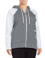 Calvin Klein Performance Plus Contrast Zip Up Hoodie Grey