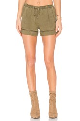 Bella Dahl Eyelet Short Army