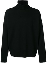 Ami Alexandre Mattiussi Turtleneck Oversize Sweater Black