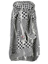 Haculla Houndstooth Woven Blouse Black