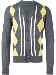 Ballantyne Patterned Cardigan Grey