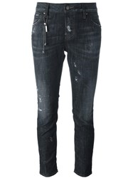 Dsquared2 Cool Girl Chain Trim Jeans Black