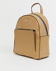 Melie Bianco Faux Leather Back Pack Beige