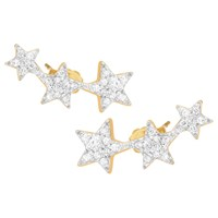 Missoma 18Ct Gold Vermeil Pave Star Cosmic Stud Earrings Gold