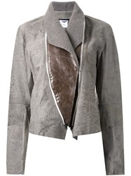 Ann Demeulemeester Zipped Front Fitted Jacket Grey