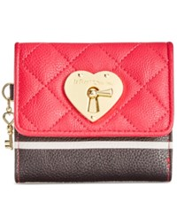Betsey Johnson Boxed Swag Heart French Wallet Only At Macy's Red