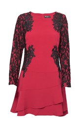 Indulgence Lace A Line Dress Red