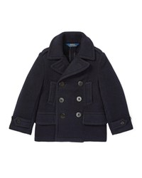 Ralph Lauren Melton Wool Blend Peacoat Size 2 4 Blue