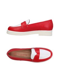 Pas De Rouge Loafers Red