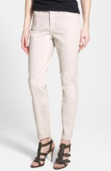 Petite Women's Nydj 'Clarissa' Colored Stretch Ankle Skinny Jeans Clay