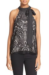Parker Women's 'Theia' Bow Tie Halter Style Lace Top