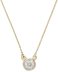Trumiracle Diamond Bezel Pendant Necklace In 10K Gold 1 10 Ct. T.W. None