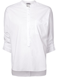 Kristensen Du Nord Ruched Sleeves Tunic Top White