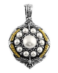 Konstantino Silver And 18K Round Pearl Pendant Enhancer