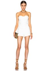 Tamara Mellon Strapless Romper In White