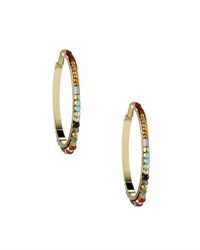 Nakamol Beaded Hoop Earrings Multi