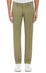 Mason's Men's Tricotine Jersey Slim Fit Trousers Green