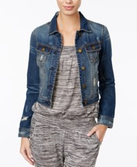 American Rag Ripped Cropped Denim Jacket Only At Macy's Phoenix Wash