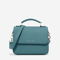 Charles And Keith Basic Front Flap Crossbody Bag Teal