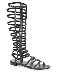 Stuart Weitzman Gladiator Metallic Sandals Black