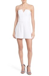 Women's Leith Strapless Romper White