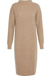 N.Peal Ribbed Cashmere Dress Camel