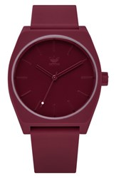 Adidas Process Silicone Strap Watch 38Mm Burgundy