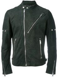 Diesel Zipped Biker Jacket Black