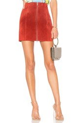 Blank Nyc Zipper Suede Mini Skirt Red