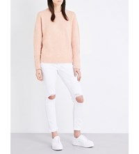 Frame Boxy Boyfriend Knitted Jumper Dirty Pink