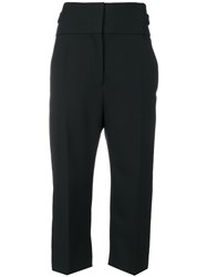 Haider Ackermann Cropped Tailored Trousers Black