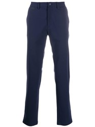 Dirk Bikkembergs Slim Fit Tailored Trousers Blue