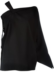 Issey Miyake Draped One Shoulder Top Black