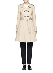 Thom Browne 'Mackintosh' Pleated Cotton Trench Coat Brown