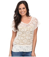 Ariat Medallion Top White Women's Short Sleeve Pullover