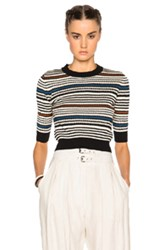 Rachel Comey Cropped Pullover Sweater In Stripes