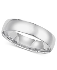 Macy's 14K White Gold Comfort Fit 5Mm Wedding Band No Color