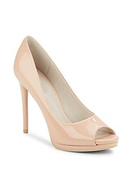 Kenneth Cole Giselle H6 Patent Leather Peep Toe Pumps Blush