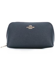 Coach Zipped Make Up Bag Blue