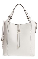 Sole Society Large Studded Faux Leather Tote White Linen