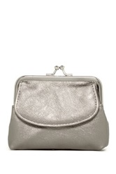 Mundi Kiss Lock Coin Pouch Metallic
