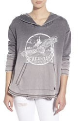 Billabong Junior Women's 'See The Light' Ombre Graphic Hoodie Off Black