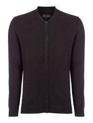 Label Lab Men's Keaton Zip Through Sweat Black