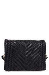 Street Level Woven Faux Leather Crossbody Bag