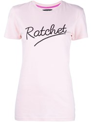 House Of Holland Ratchet T Shirt Pink Purple