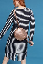 Anthropologie Striped Terry Cocoon Dress Navy