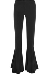 Maggie Marilyn Dreamer Silk Crepe De Chine Flared Pants Black