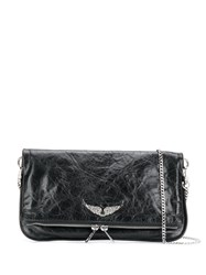 Zadig And Voltaire Rock Wings Clutch Bag Black