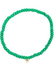 Luis Morais Small Trikona Beaded Bracelet Green