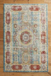Anthropologie Trudain Rug Light Blue